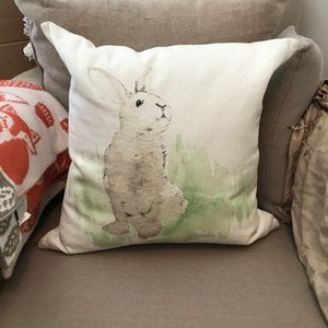 Pottery Barn Large Accent Pillow ~ Bunny NWOT!